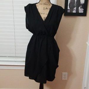 H&M short black flowing dress